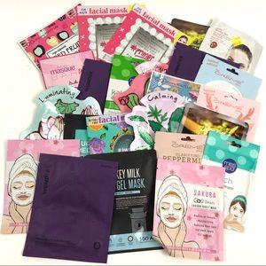 Lot Of 25 Face Sheet Masks Bulk Beauty Makeup New
